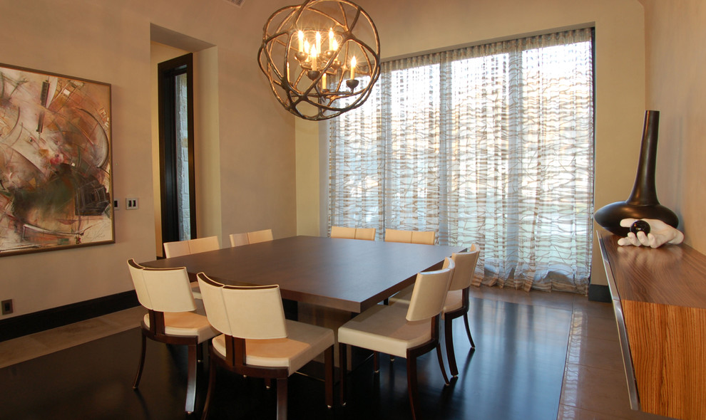Minotti for Contemporary Dining Room with Square Dining Table