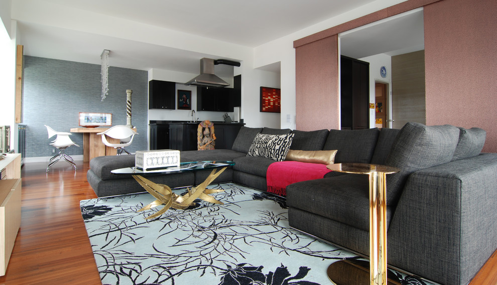 Minotti for Contemporary Family Room with Hood