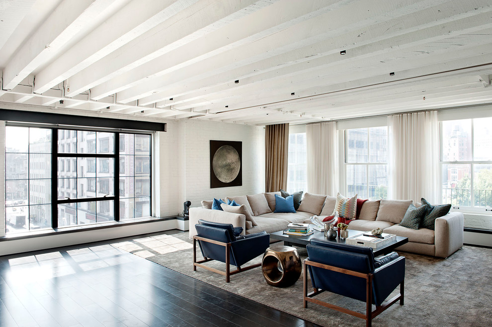 Minotti for Industrial Living Room with Ledge