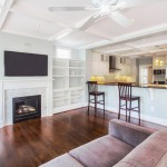 Minwax for Traditional Family Room with Coffered Ceiling