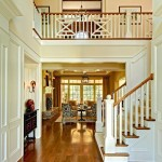 Minwax Stain Colors for Traditional Entry with Beige Stair Railing