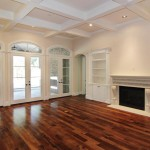 Minwax Stain Colors for Traditional Living Room with Hickory Wood Floors