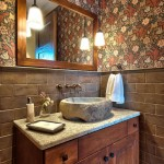 Mission Road Antique Mall for Traditional Powder Room with Wainscoting