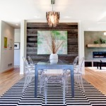 Monocoat for Contemporary Dining Room with White Vase