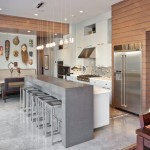 Monolithic Slab for Contemporary Kitchen with Eclectic