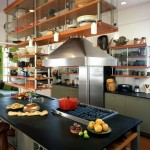 Monolithic Slab for Industrial Kitchen with Kitchen Island with Sink