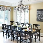 Monroe Bisque for Traditional Dining Room with Patterned Valance