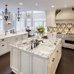 Mont Granite for Traditional Kitchen with Lanterns