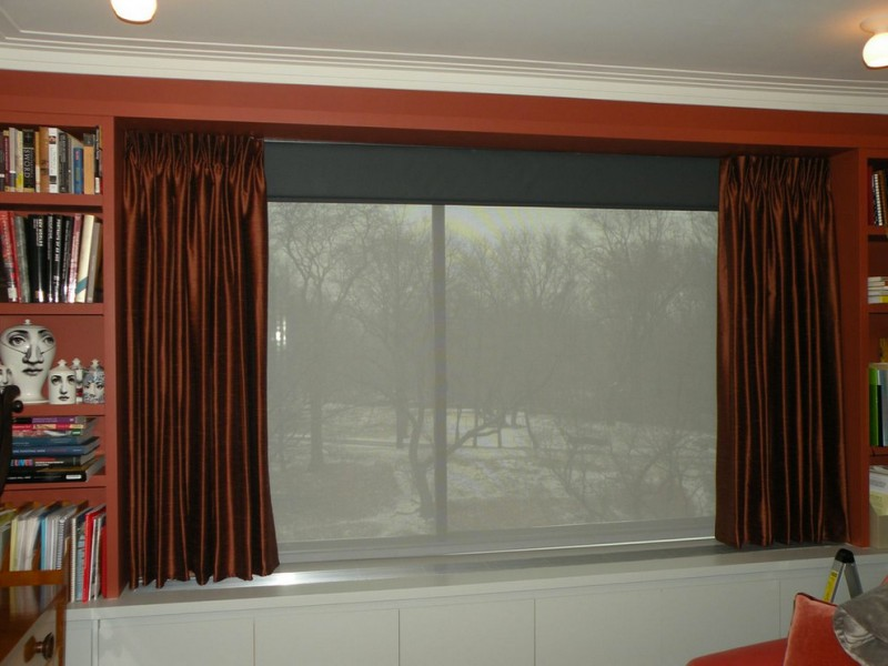 Montclair Theater for Contemporary Home Theater with Blockout Shade