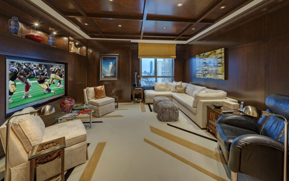 Montebello Theater for Contemporary Home Theater with Contemporary
