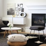 Mor Furniture Boise for Scandinavian Living Room with Cowhide Rug