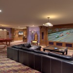Morro Bay Theater for Contemporary Home Theater with Leather Sofa