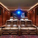 Morro Bay Theater for Craftsman Home Theater with Cove Lighting