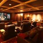 Morro Bay Theater for Traditional Home Theater with Sconce