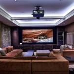 Morro Bay Theater for Transitional Home Theater with Dark Wood Cabinets