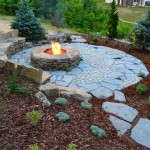 Mosaic Richmond for Rustic Landscape with Stone Fire Pit