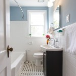 Mosaic Richmond for Traditional Bathroom with Black and White Floor Tile