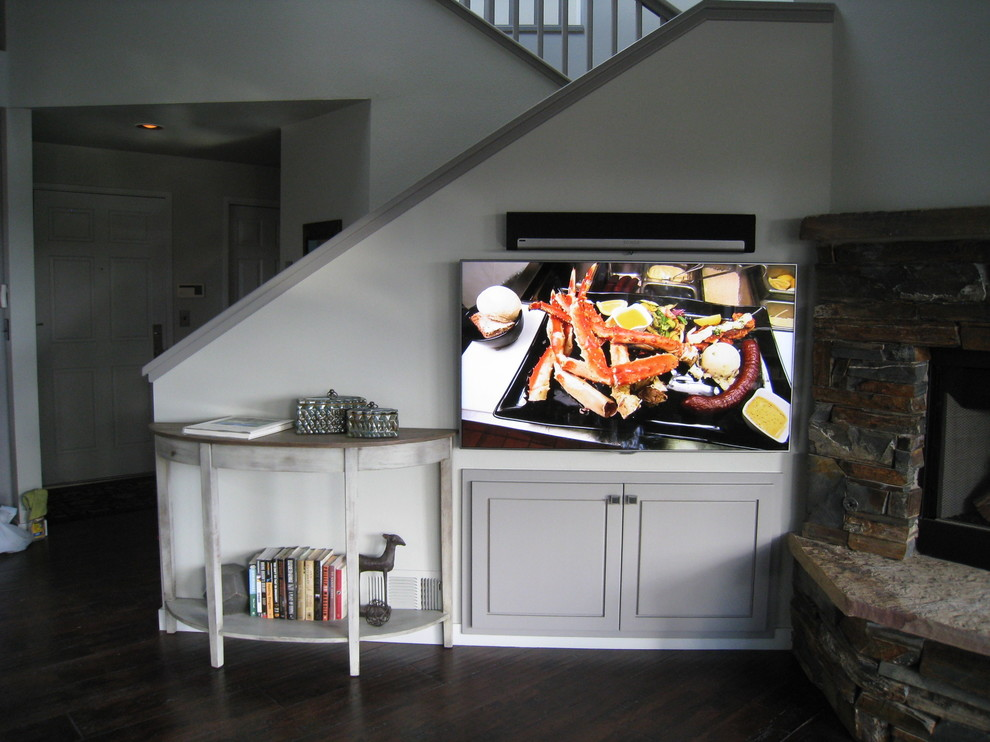 Mt Bachelor Village for Rustic Living Room with Sonos Playbar