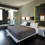 Mythic Paint for Contemporary Bedroom with Black Wall