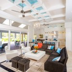 Naples Mercedes for Contemporary Family Room with with Aqua Accents