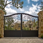 Natec for Mediterranean Landscape with Wrought Iron Lighting Fixture