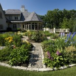 Needham Garden Center for Traditional Landscape with Walkway