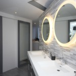 Nemo Tile for Contemporary Bathroom with White Wall
