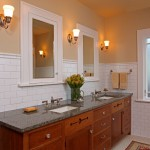 Nemo Tile for Craftsman Bathroom with Wall Sconces