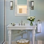 Nemo Tile for Farmhouse Bathroom with Sink Stand