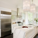 Neolith Countertops for Transitional Kitchen with Dark Wood Flooring