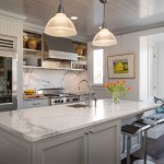 Neolith Countertops for Transitional Kitchen with Hanging Art