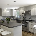 Neolith Countertops for Transitional Kitchen with Tea Kettle