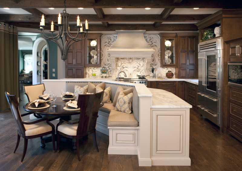 New Orleans La Points of Interest for Traditional Kitchen with Dark Stained Wood