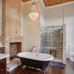 New Orleans Points of Interest for Transitional Bathroom with Chandelier