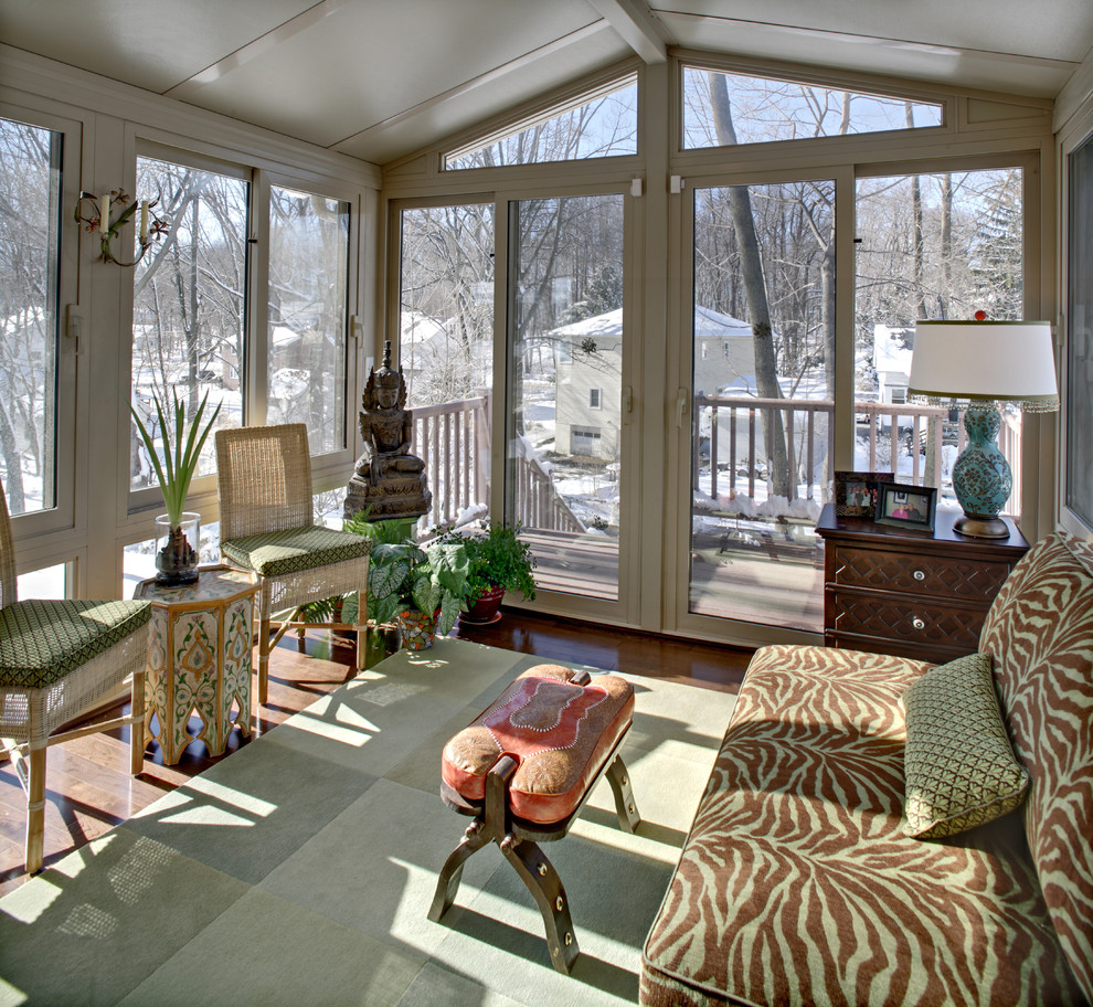 Newark Screens for Eclectic Sunroom with Sunroom