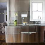 Nicolas De Stael for Transitional Kitchen with Stainless Steel Backsplash