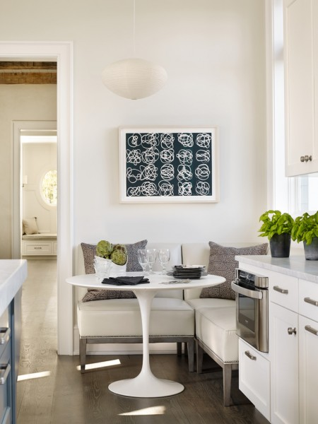 Nook Bistro for Beach Style Dining Room with Plants