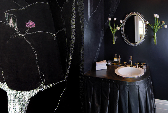 Nordstrom Ted Baker for Eclectic Powder Room with Hand Painted
