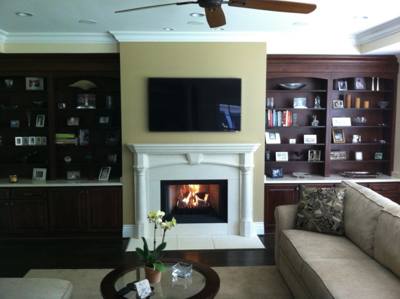 Northwest Metalcraft for Modern Family Room with Modern Fireplace