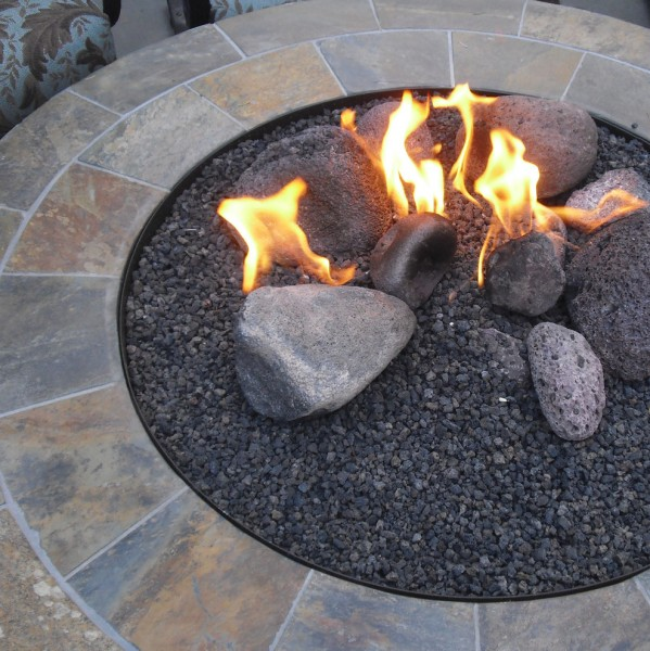 Northwest Propane for Mediterranean Landscape with Tabletop Fireplaces