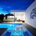 Nps Pool Supply for Contemporary Exterior with Downlighting