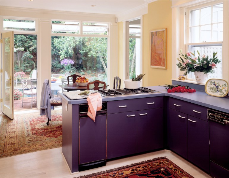 Oasis Chevy for Traditional Kitchen with Purple