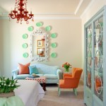 Ocher Color for Eclectic Bedroom with Turquoise Accents