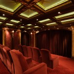 Old Orchard Theater for Traditional Home Theater with Ceiling Treatment