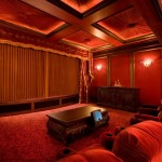 Old Orchard Theater for Traditional Home Theater with Padded Ceiling