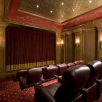 Old Orchard Theater for Traditional Home Theater with Wood