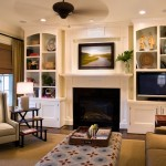 One Seagrove Place for Traditional Living Room with Dark Floor