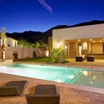 Orco Block for Contemporary Pool with Outside Patio