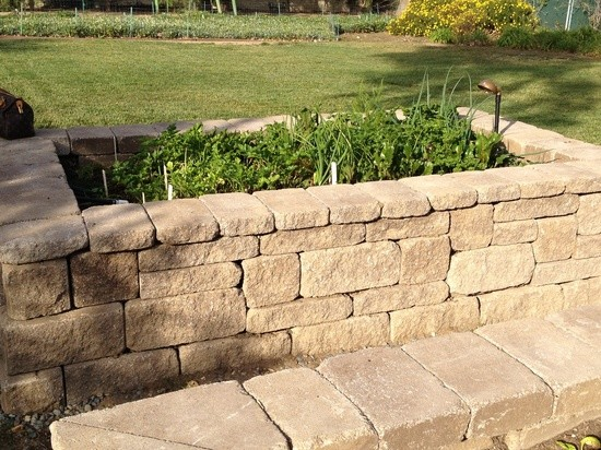 Orco Block for Traditional Landscape with Garden Bed