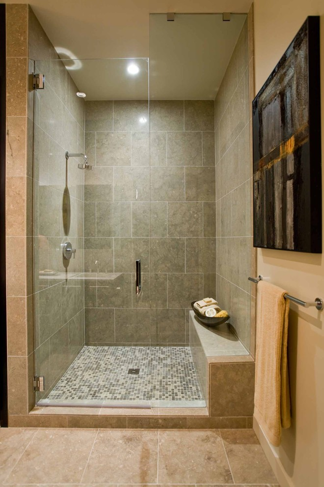 Oregon Tile and Marble for Contemporary Bathroom with Master Shower